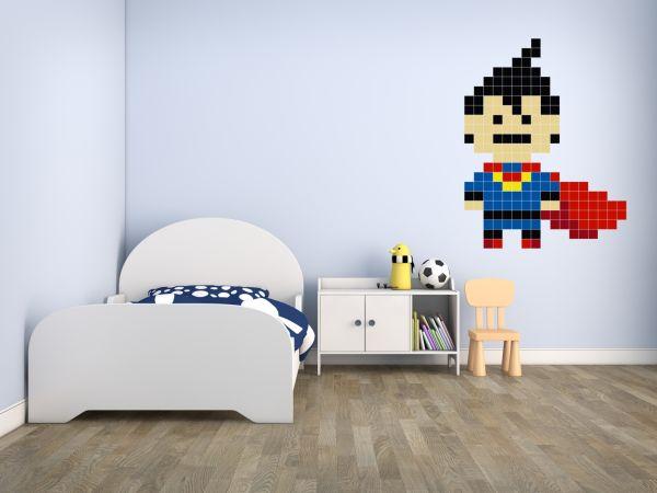 Dekoracje: pokój małego superbohatera